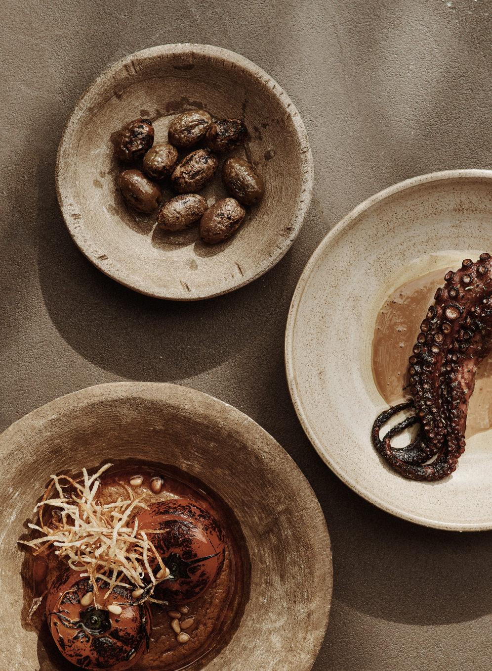 Noema Restaurant & Bar Mykonos designed by Lambs and Lions Berlin, Food