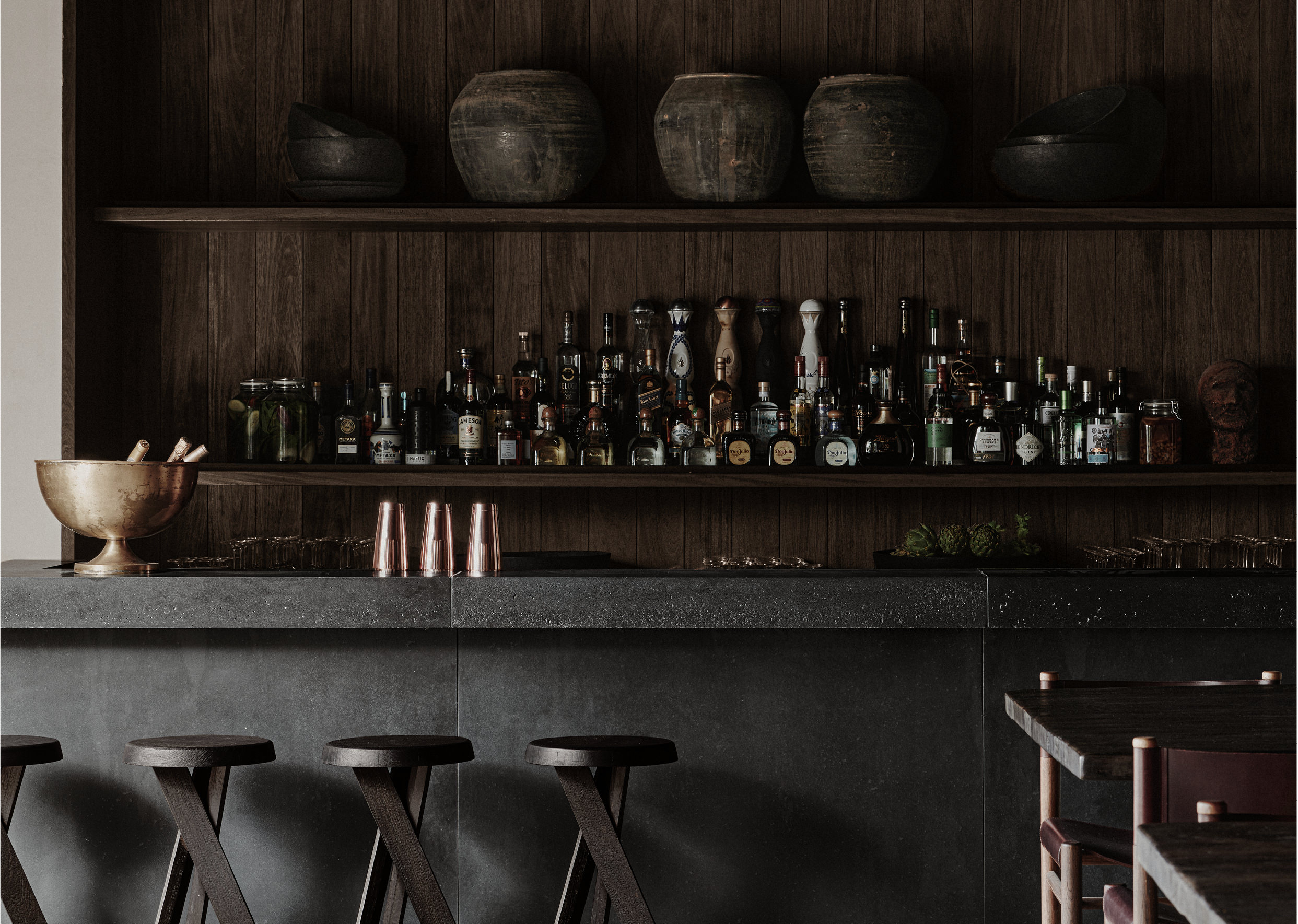 Noema Restaurant & Bar Mykonos designed by Lambs and Lions Berlin, Interior design