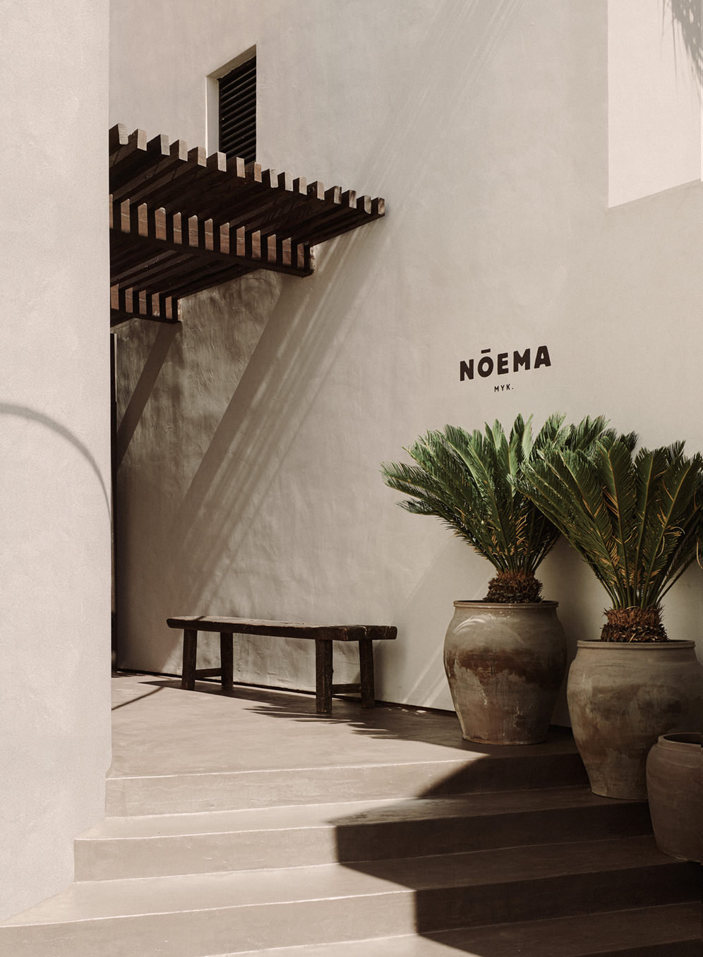 Noema Restaurant & Bar Mykonos designed by Lambs and Lions Berlin, Architecture